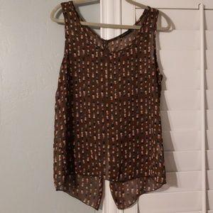 Brown polkadot shirt